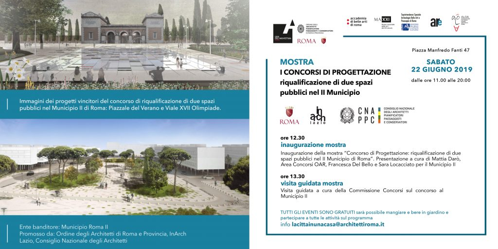 """La mostra del concorso di progettazione """"Riqualificazione di due spazi pubblici nel Secondo Municipio"""" 2"""