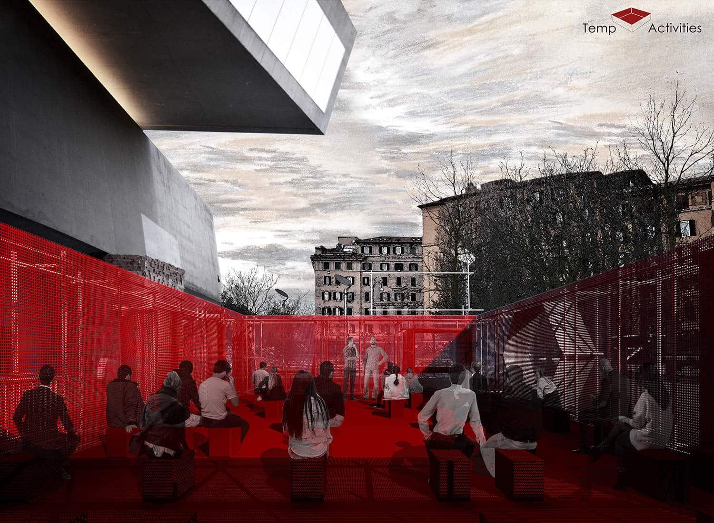 An urban emergency pavilion