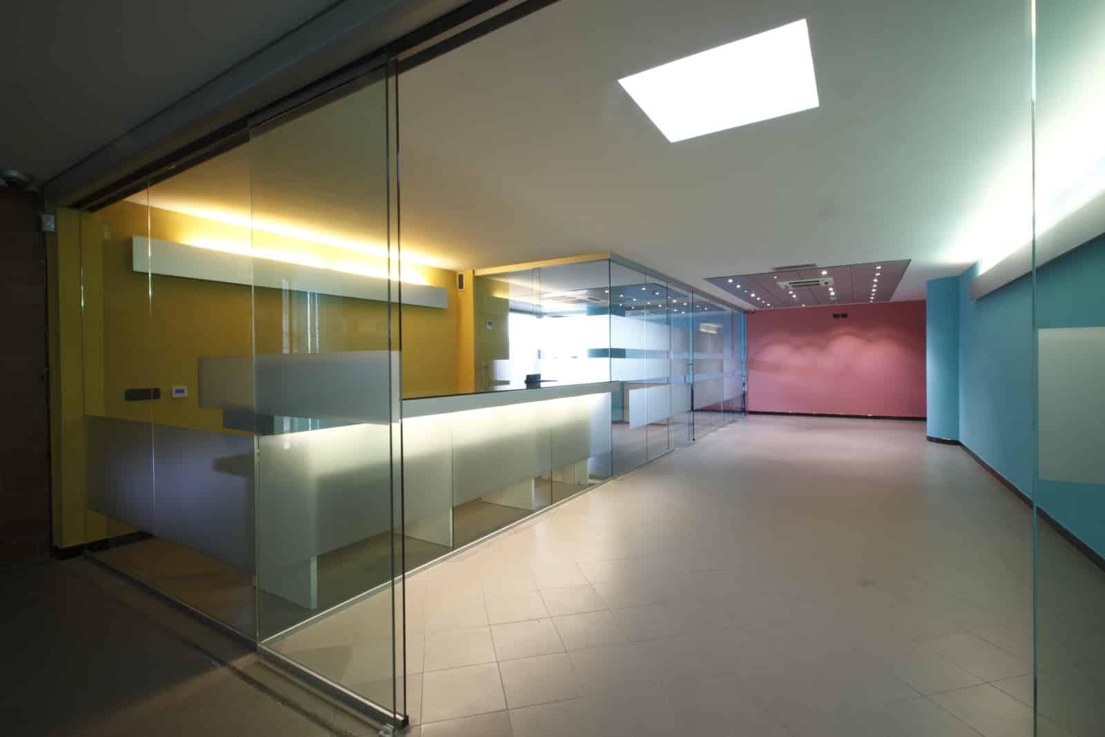 Design of entrance hall and first floor hall of ATAC Patrimonio Headquarter by architect Mario Cutuli
