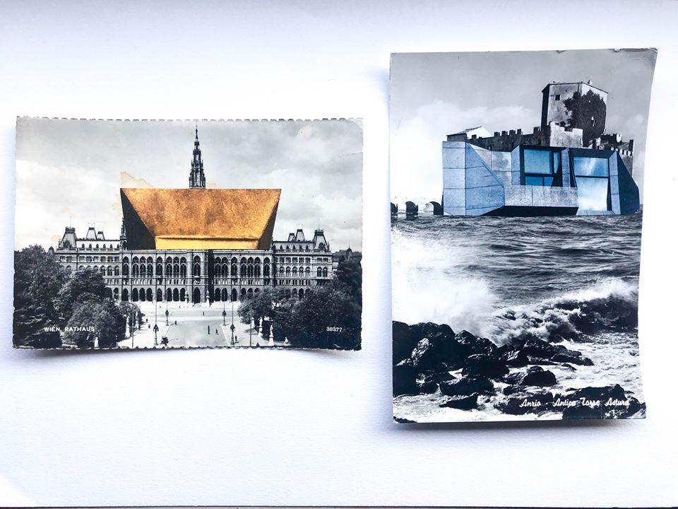 Luca Galofaro_Abitare i monumenti, Postcards, 2012_Fronte