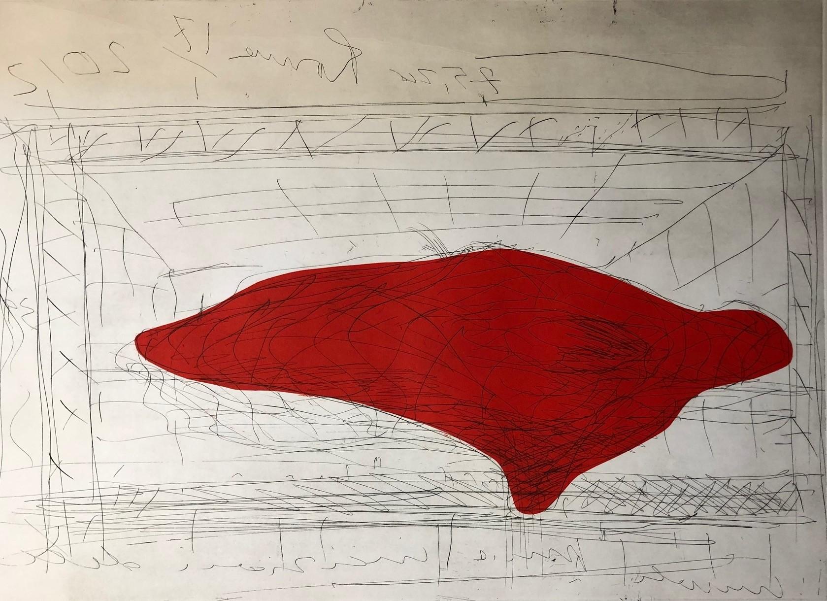 Massimiliano Fuksas_Incisione_Istituto Nazionale per la grafica_99,5x70,5