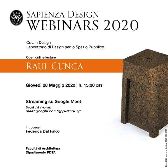 Open online lecture: Raul Cunca 1