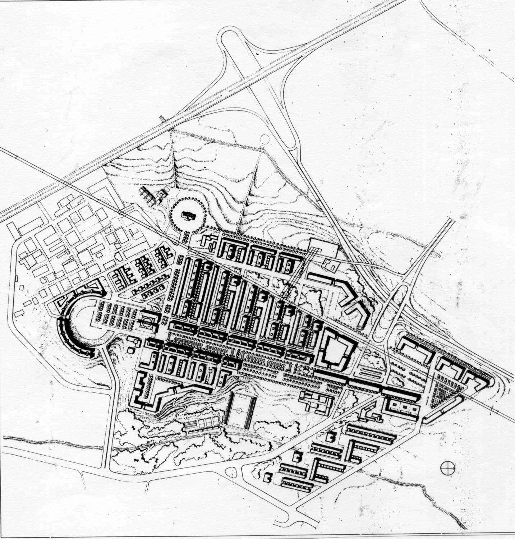 5 - PdZ del Comprensorio Casal Monastero I, Roma; in collaborazione - Planivolumetrico