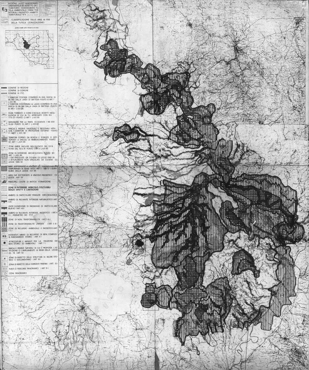 10 - PTP n. 4 dell'Alta Valle del Tevere sull'asse Fiano Romano-Orte, per Regione Lazio; in collaborazione - Zonizzazione