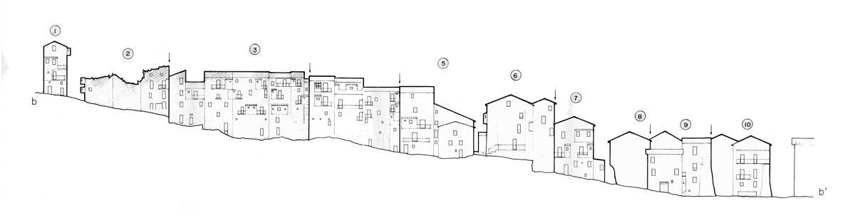 10 - PP del centro storico di Carpineto Romano (RM) - Prospetti