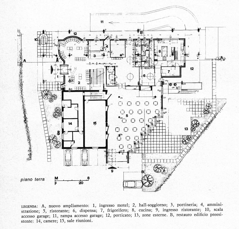 11 - Motel La Giocca in via Salaria 1221, Roma, per Soc. Gera - Pianta piano terra