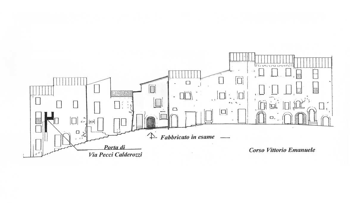 11 - PP del centro storico di Carpineto Romano (RM) - Prospetto