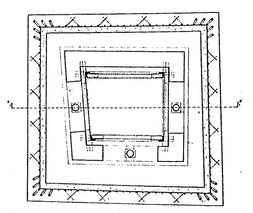 13 - Restauro della Torre rinascimentale con campanile romanico inglobato, Bassano in Teverina (VT) - Pianta