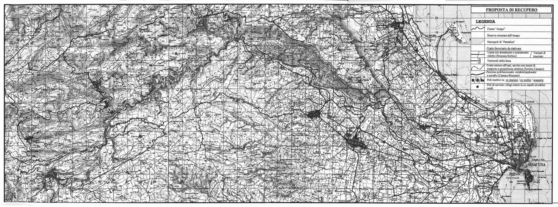 12 - Recupero dell'antica ferrovia Siracusa - Vizzini, Provincia Regionale di Siracusa - Sviluppo planimetrico della linea ferroviaria