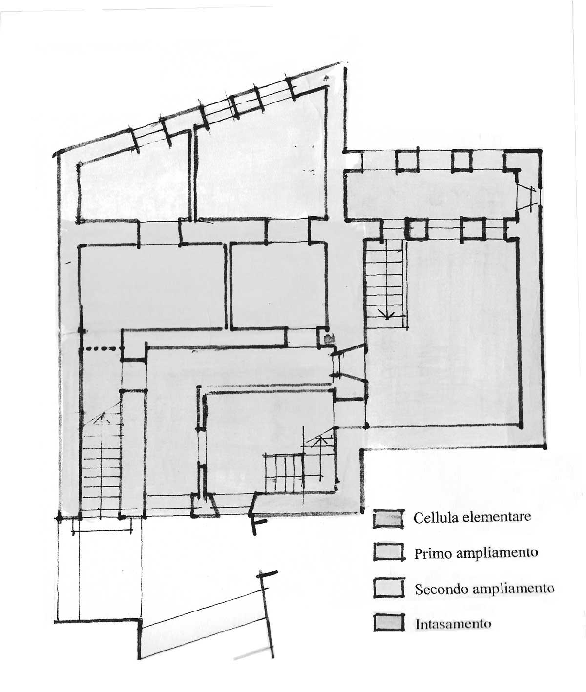 12 - PP del centro storico di Carpineto Romano (RM) - Pianta del fabbricato in via Pecci Calderozzi