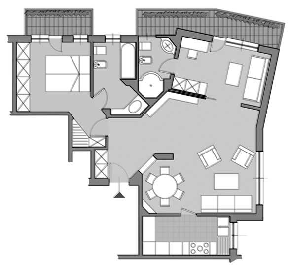 11 - Ristrutturazione di appartamento in via G. Pezzana, Roma - Pianta