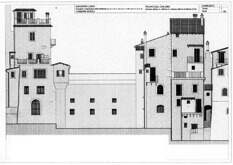 13 - Riqualificazione di abitazioni nel centro storico di Poli (RM); in collaborazione - Prospetti