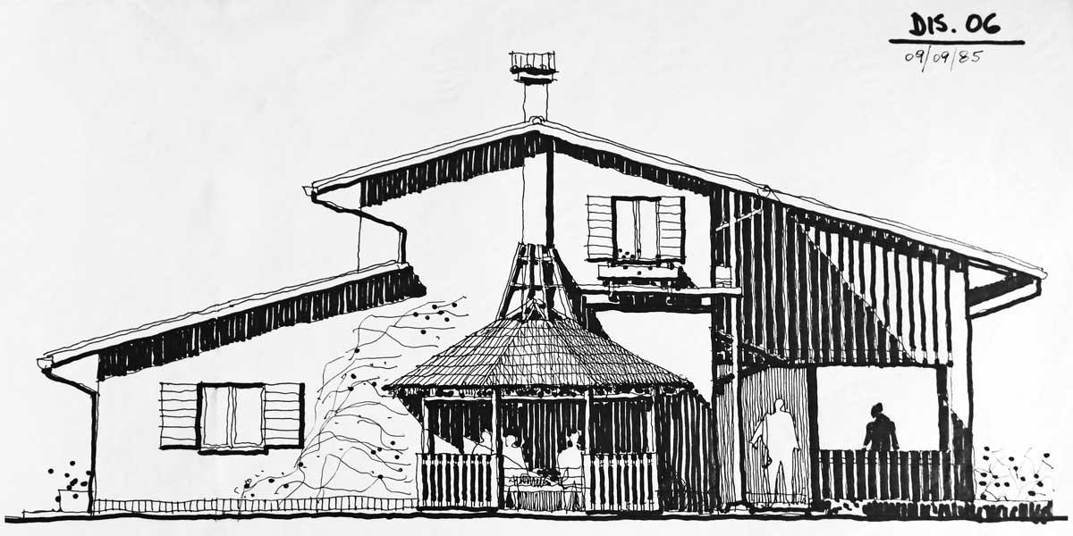 15 - Adeguamento di edifici agricoli a nuova destinazione per attività ricettiva in loc. Passo Corese, Fara in Sabina (RI) - Prospetto