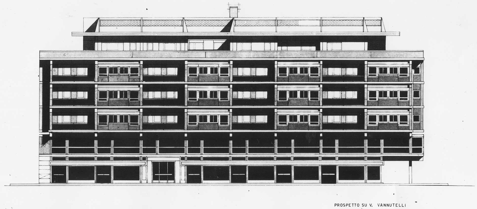 1 - 54 alloggi a Roma - Spinaceto, II programma GESCAL - IACP Roma; capogruppo - Prospetto