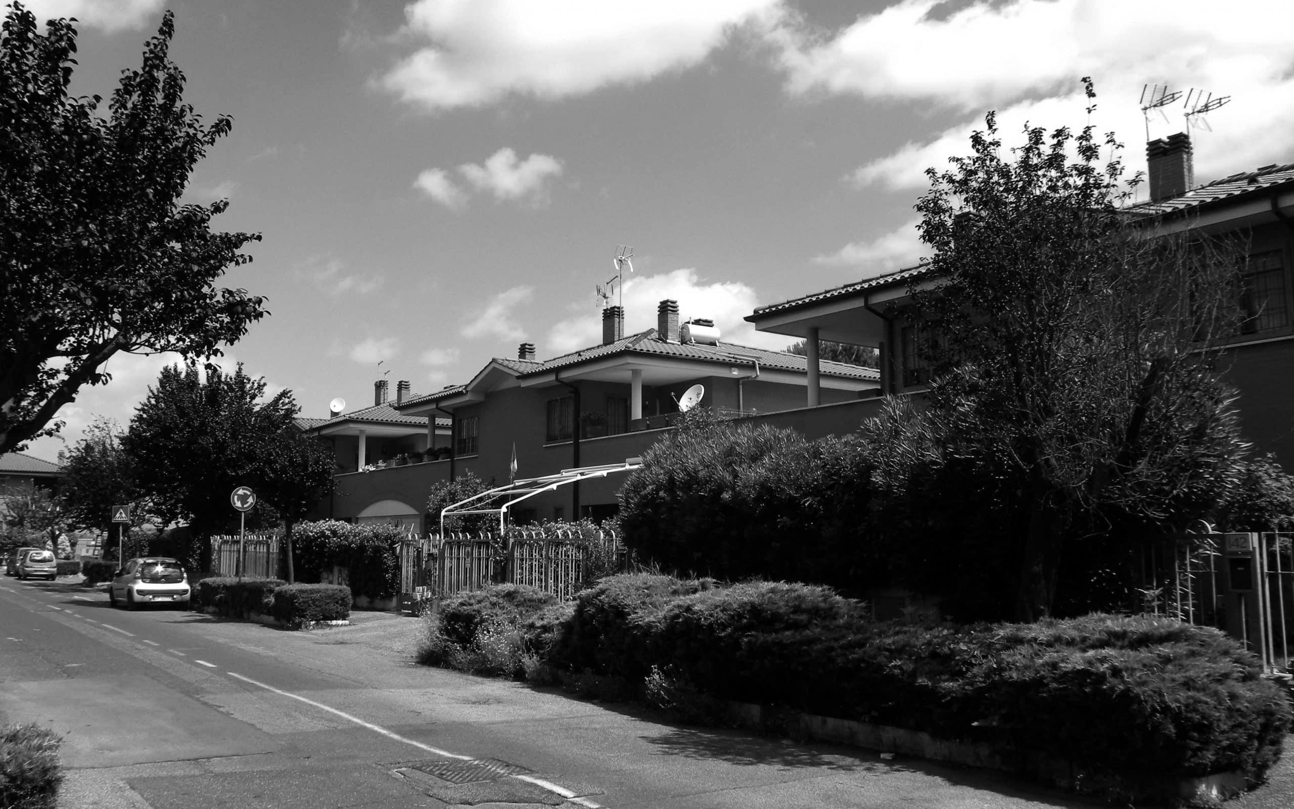 16 - Complesso residenziale di 21 villini a schiera nel PdZ Tor Bella Monaca, Roma - Vista esterna