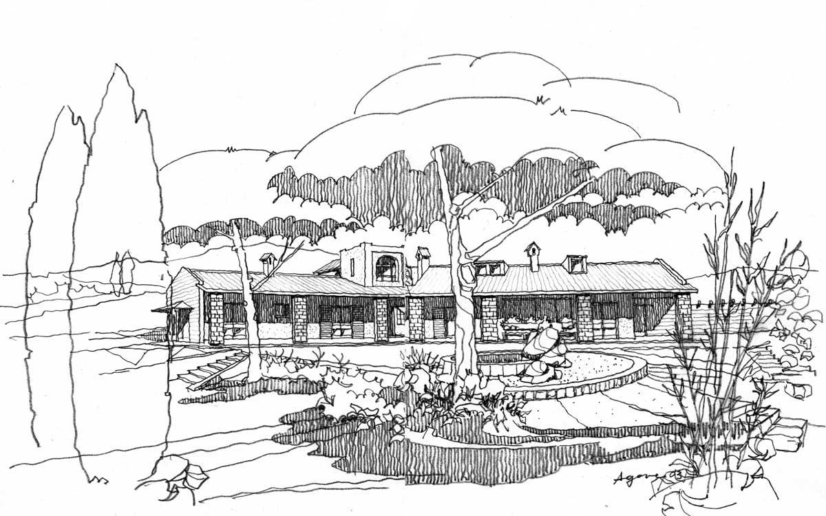 16 - Villa residenziale per conduttori di azienda agricola in loc. Arci - Passo Corese, Fara in Sabina (RI) - Vista prospettica