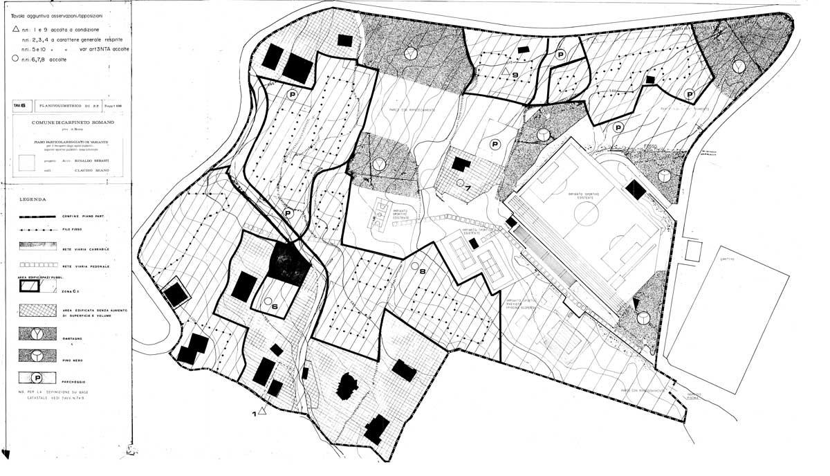 17 - PP della zona sportiva del Comune di Carpineto Romano (RM) - Planivolumetrico