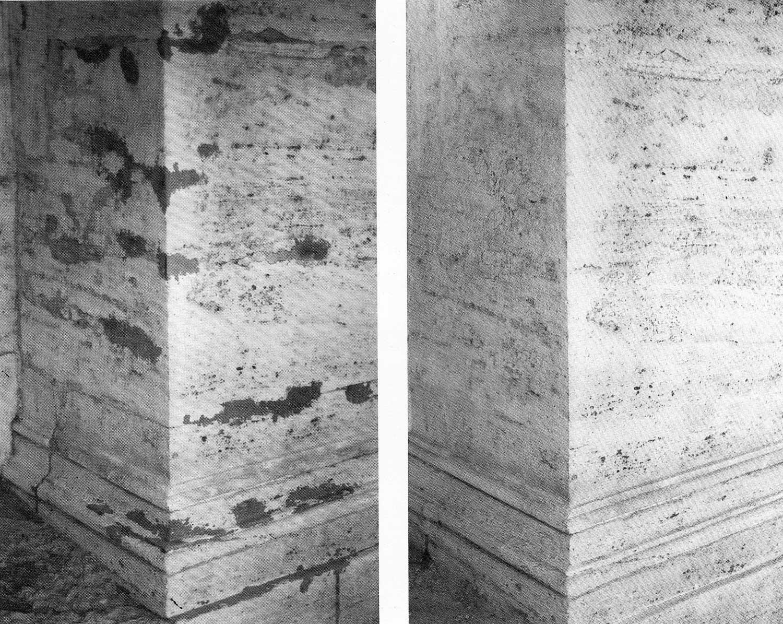 18 - Restauro della facciata della Chiesa di S. Andrea Della Valle, Roma - Vista di dettaglio delle stuccature in facciata