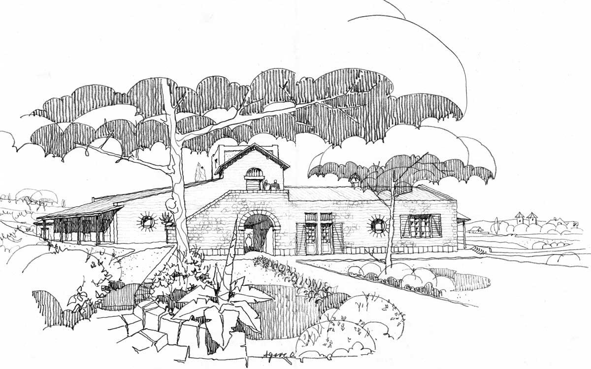 18 - Villa residenziale per conduttori di azienda agricola in loc. Arci - Passo Corese, Fara in Sabina (RI) - Vista prospettica