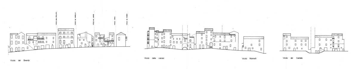 18 - Piano del centro storico di Zagarolo (RM); con M. Renzi - Prospetti