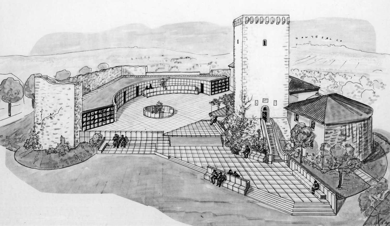 16 - Recupero ambientale della Rocca di Fabbri a Foligno (PG); con C. e GC. Pediconi - Vista prospettica