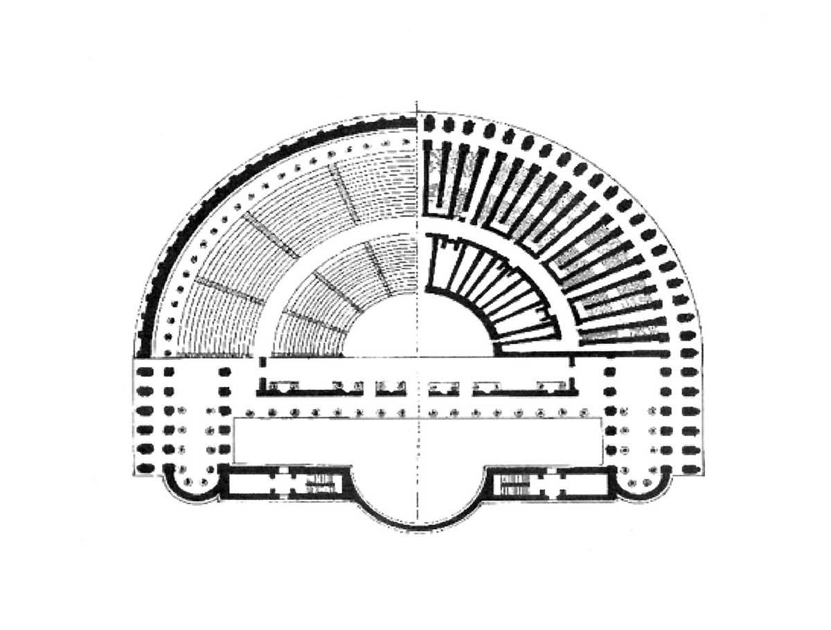 1 - Restauro di Palazzo Orsini al Teatro Marcello, Roma; con Studio Ludovico Quaroni - Pianta