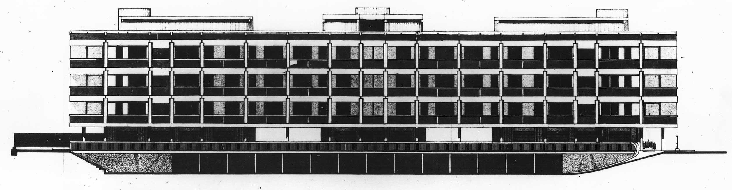 6 - 54 alloggi a Roma - Spinaceto, II programma GESCAL - IACP Roma; capogruppo - Prospetto