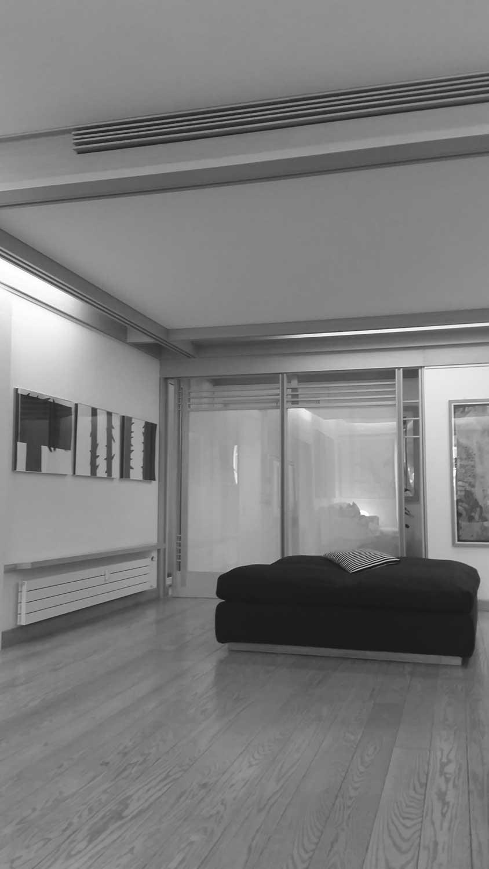 22 - Ristrutturazione e arredo di casa Bucchieri a Roma; con E. Monti - Vista interna