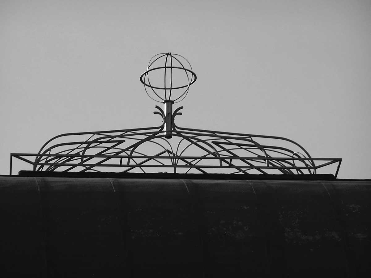 22 - Ristrutturazione e ampliamento del Pontificio Collegio Leoniano di Anagni (FR) - Vista di dettaglio della cuspide metallica