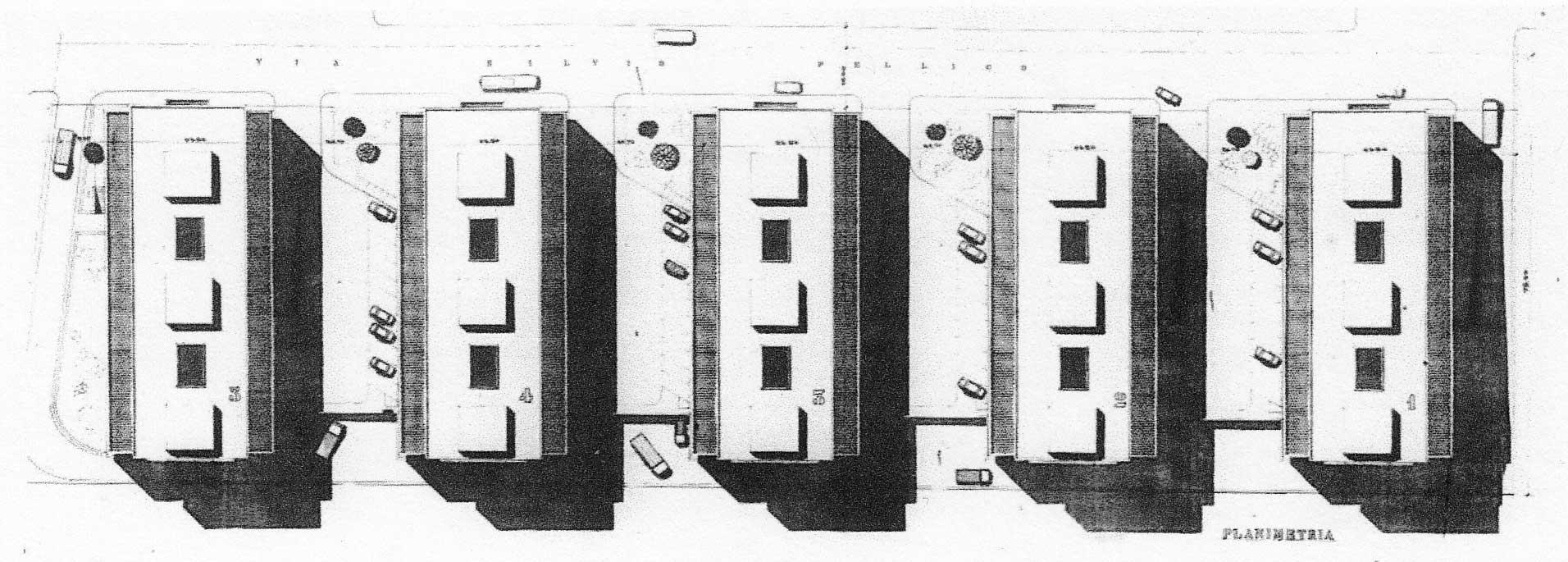 7 - Complesso residenziale di 312 alloggi a Pomezia (RM), per Imp. Lenzini - Planovolumetrico