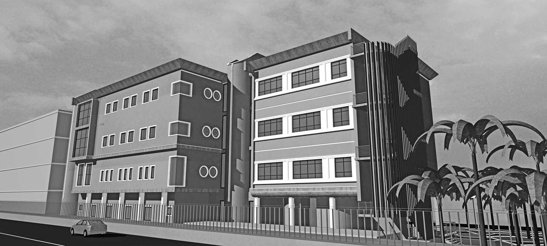 """23 - Progetto del nuovo Padiglione B dell'Istituto di riabilitazione """"S. Stefano"""", Porto Potenza Picena (MC); in corso di realizzazione - Render"""