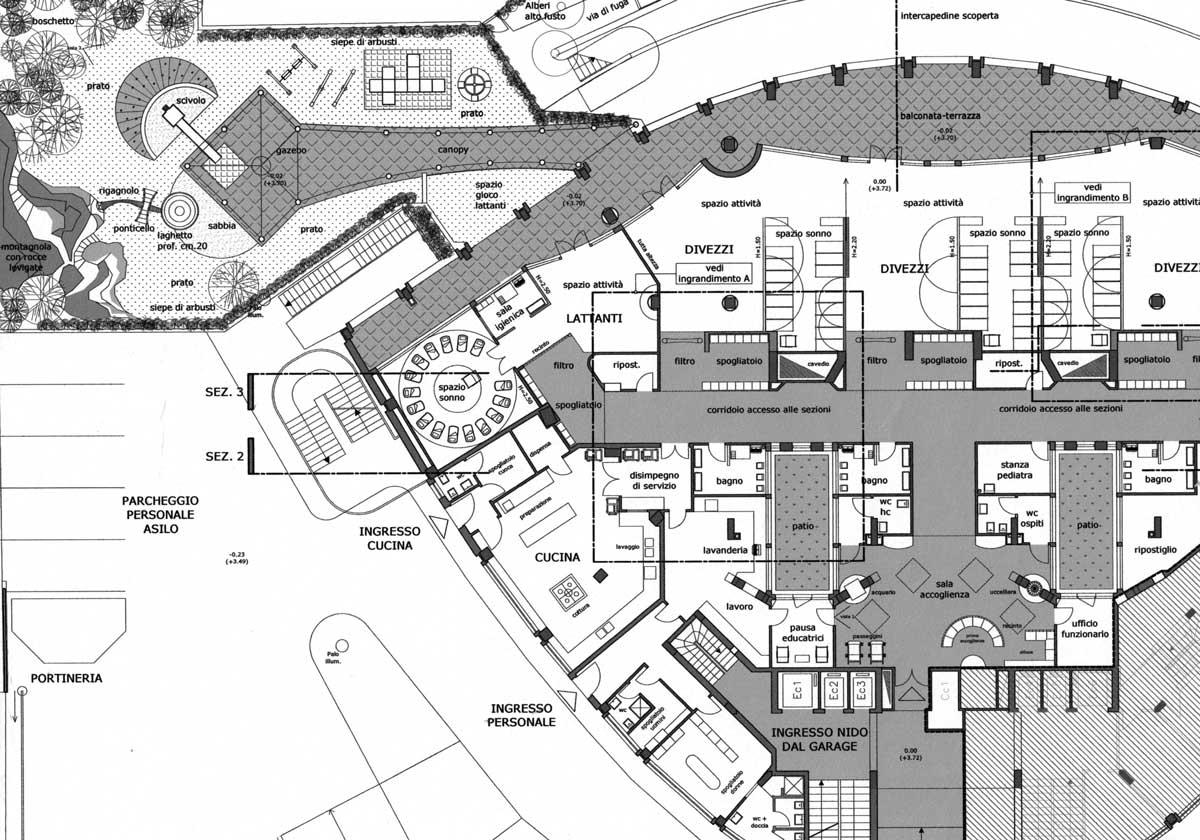 24 - Adattamento di una stalla in sala conviviale di agriturismo in loc. Arci - Passo Corese, Fara in Sabina (RI) - Vista prospettica interna