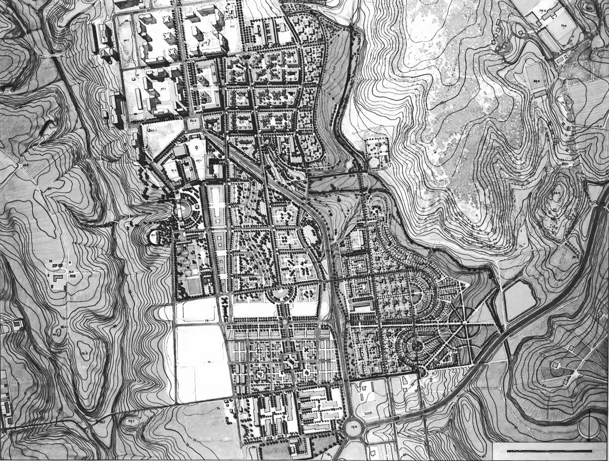 27 - Piano Urbanistico Attuativo della sottozone CPR6 in loc. Casale della Crocetta e Selva Piana, Pomezia (RM); in collaborazione - Planimetria generale
