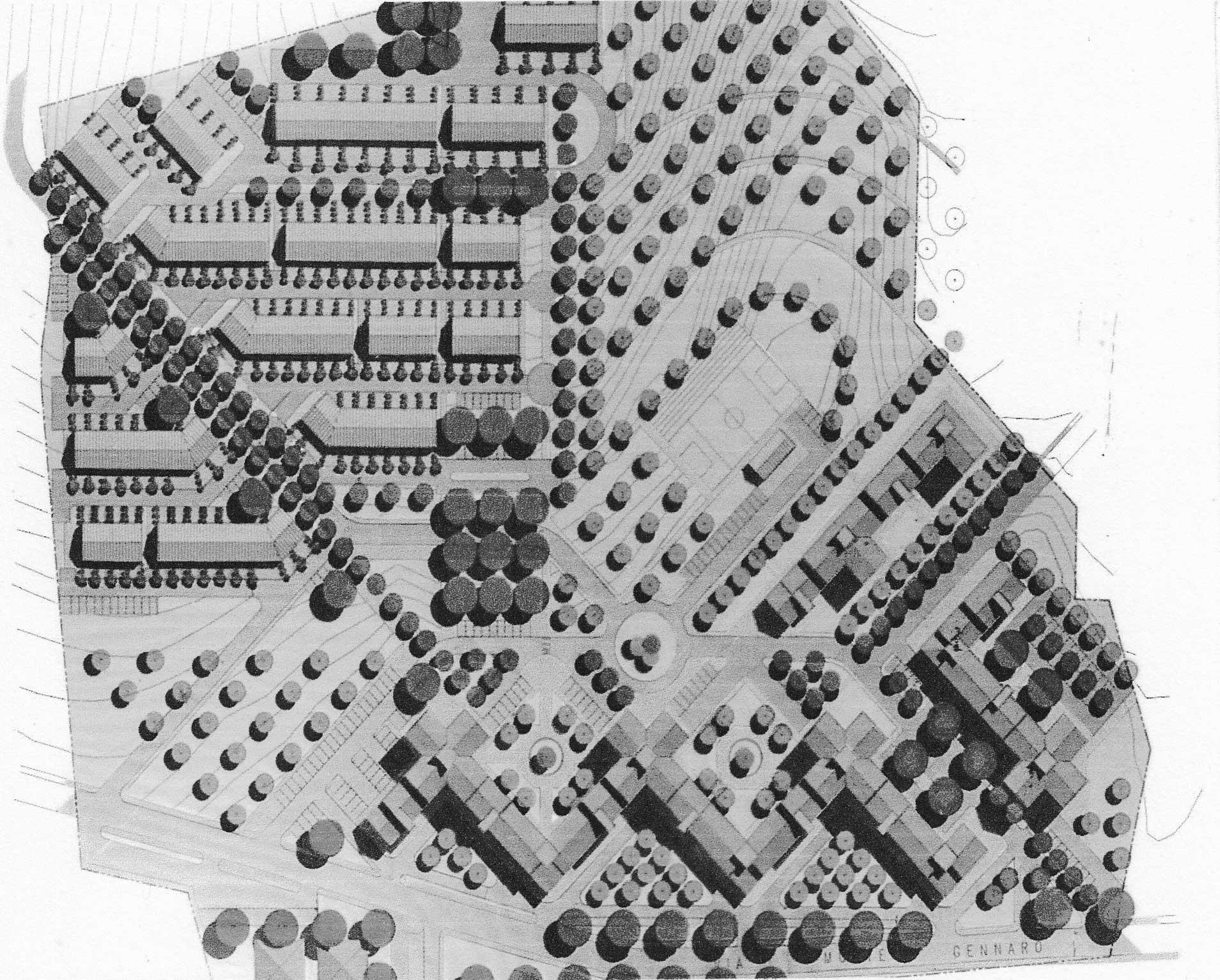 11 - PdZ in loc. La Costa, Monterotondo (RM); con R. Volta - Planovolumetrico della soluzione approvata