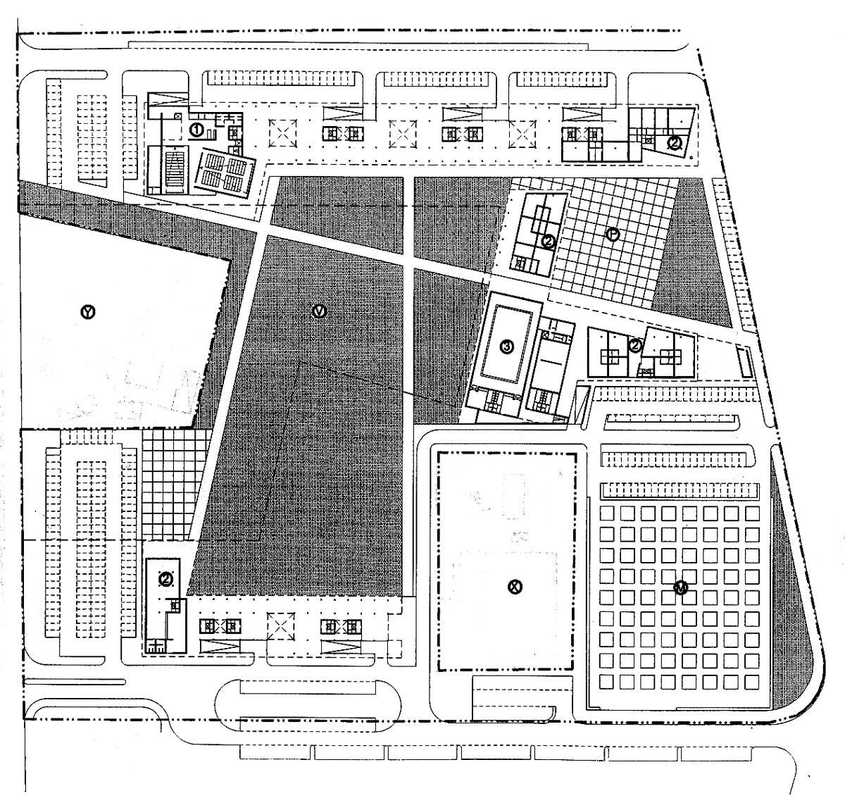 28 - PdR art. 11 a Roma - San Basilio, bando Comune di Roma; in collaborazione - Planimetria generale