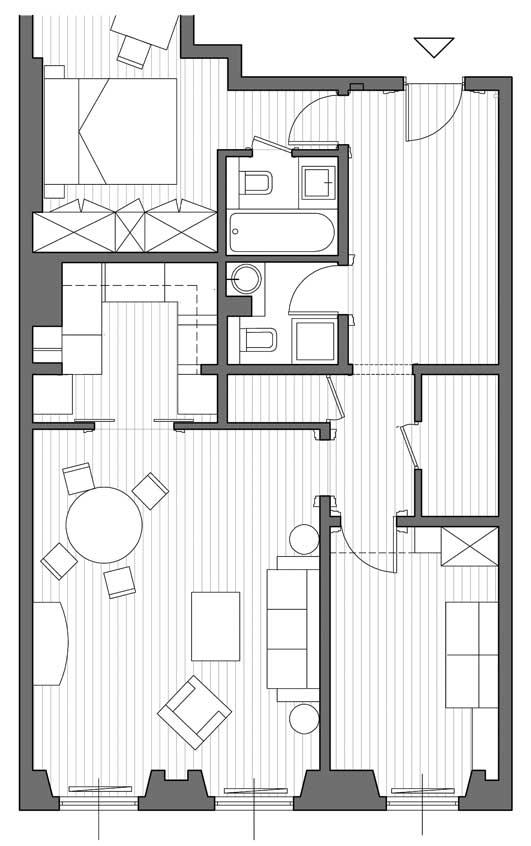 27 - Ristrutturazione di appartamento in Queen's Gate Terrace, Londra (GB) - Pianta
