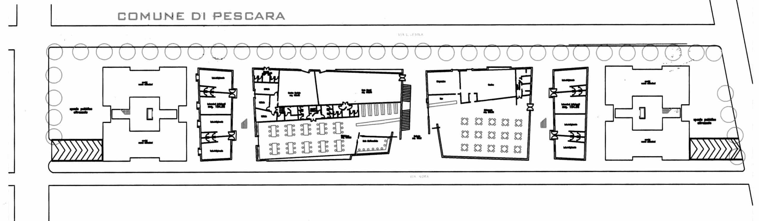 16 - CdQ, Quartiere 3 - Rione Rancitelli, Pescara; con D. Bugiani, G. Di Cristina, R. Mascetta e D. Tronca - Planimetria generale