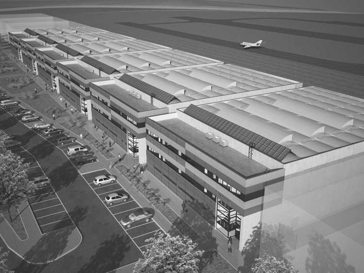 33 - Progetto delle opere di urbanizzazione primaria a servizio del centro operativo Aeroporto dell'Urbe, Roma; in collaborazione - Render