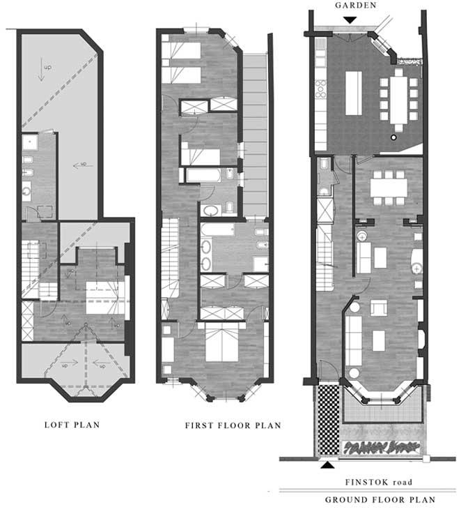 31 - Ristrutturazione di casa unifamiliare in 40 Finstock Road, Londra W10 (GB) - Piante