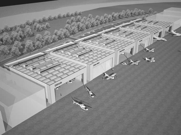 34 - Progetto delle opere di urbanizzazione primaria a servizio del centro operativo Aeroporto dell'Urbe, Roma; in collaborazione - Render