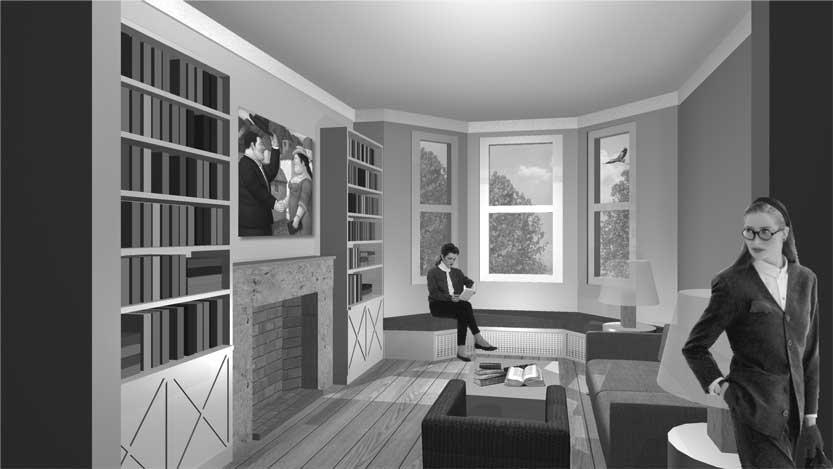 33 - Ristrutturazione di casa unifamiliare in 40 Finstock Road, Londra W10 (GB) - Render degli spazi interni