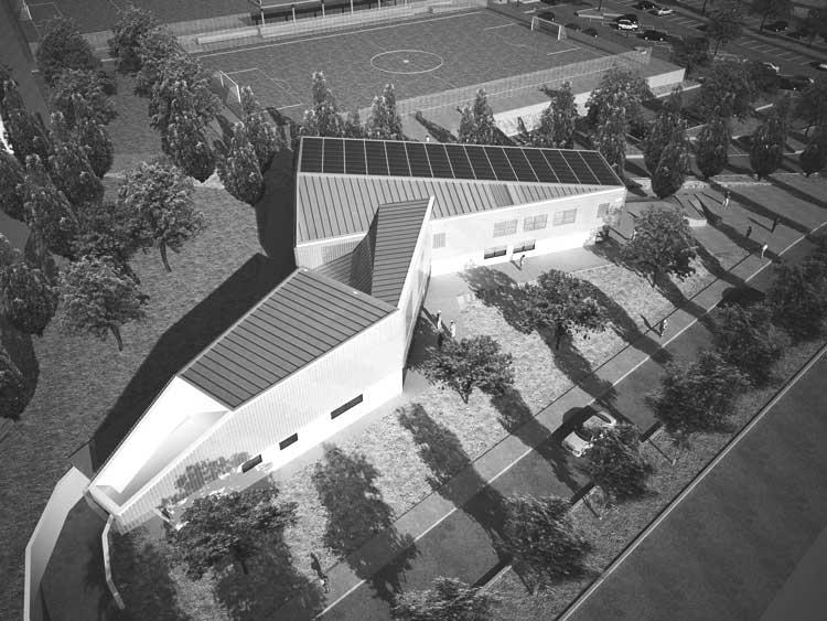 37 - Progetto di impianto sportivo in via Borghesiana, Roma - Borghesiana; in collaborazione - Render
