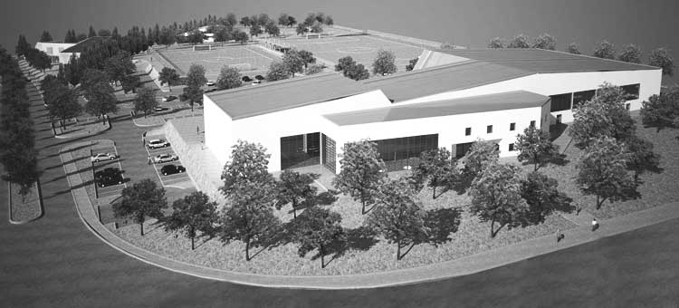 38 - Progetto di impianto sportivo in via Borghesiana, Roma - Borghesiana; in collaborazione - Render