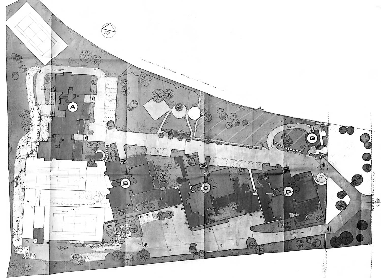 3 - Complesso residenziale in via della Pineta Sacchetti, Roma - Planimetria generale