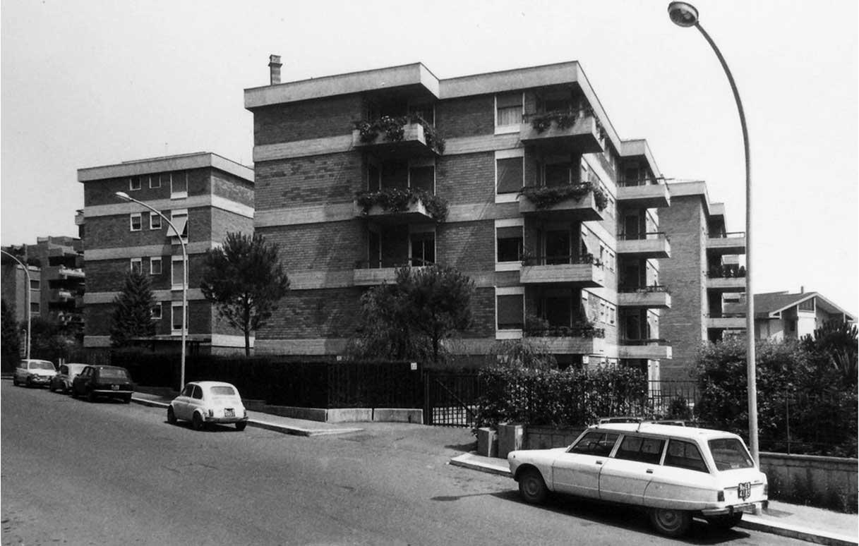 2 - Unità residenziale di 16 appartamenti in via G. Valmarana, Roma, per Gruel Srl - Vista esterna