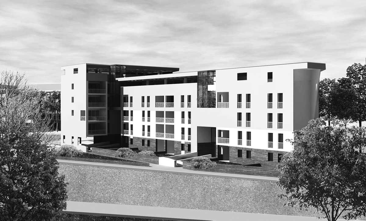 44 - Progetto di un quartiere residenziale da destinare ad housing sociale, Roma - Pietralata; in collaborazione. Bando di Roma Capitale - Render