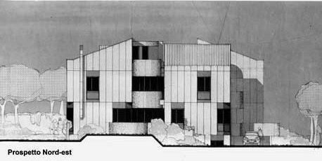 9 - Casa bifamiliare Nir a Roma - Mostacciano; con GC. Pediconi - Prospetto