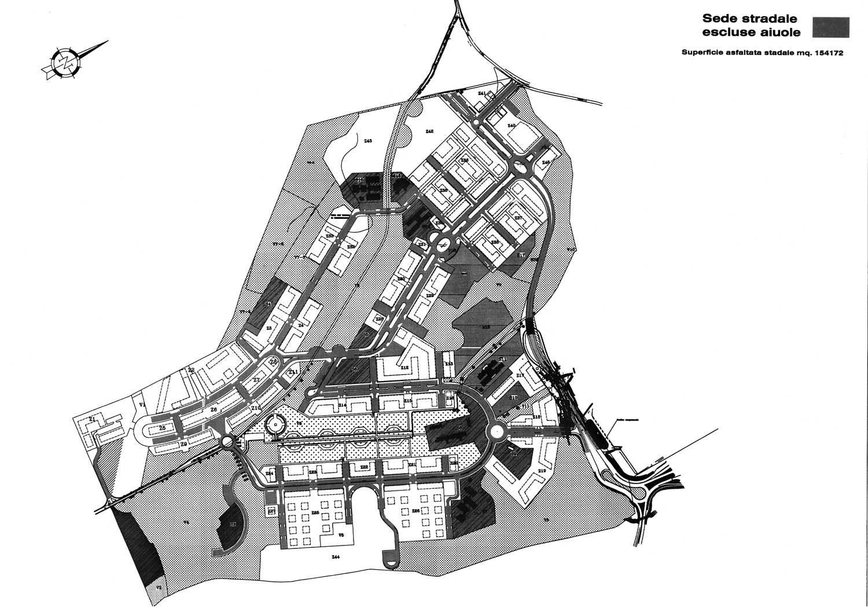 4 - Comprensorio convenzionato E1 Ponte di Nona, Roma, per Consorzio Ponte di Nona - Planimetria generale