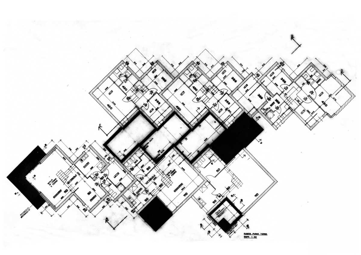 4 - 54 alloggi residenziali nel Comune di Fregene (RM), per più Cooperative - Pianta primo piano