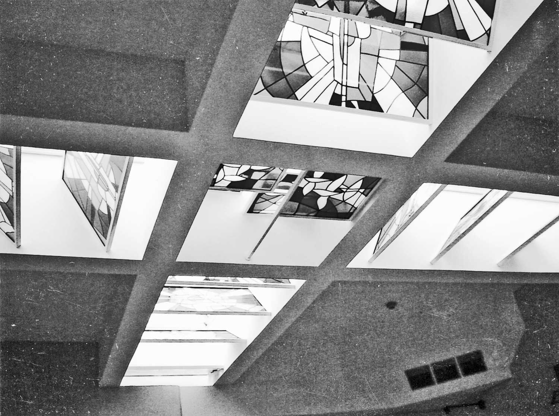 """5 - """"Opere d'arte per il nuovo carcere di Perugia, Sezione scultura e vetrate artistiche"""". Concorso, progetto premiato - Vista interna"""